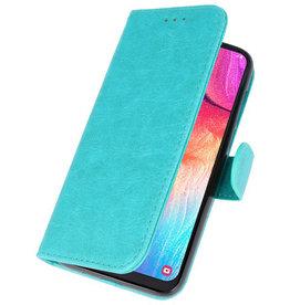 Bookstyle Wallet Cases Hülle für Galaxy A50 Grün