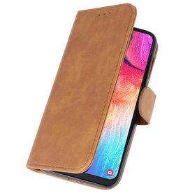 Bookstyle Wallet Cases Hülle für Galaxy A50 Braun