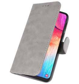 Bookstyle Wallet Cases Hülle für Galaxy A50 Grau