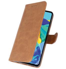 Bookstyle Wallet Cases Case für Huawei P30 Braun