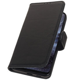 Genuine Leather Wallet Case for Samsung Galaxy A8s Black