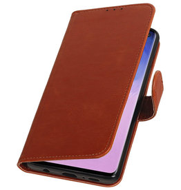 Pull Up Bookstyle for Samsung Galaxy S10 Brown