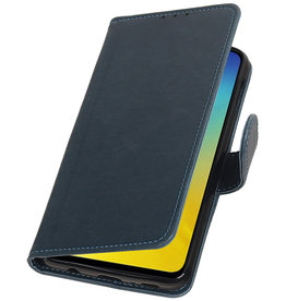 Pull Up Bookstyle voor Samsung Galaxy S10e Blauw