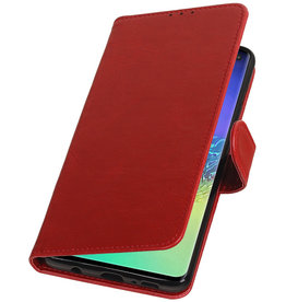 Pull Up Bookstyle voor Samsung Galaxy S10 Plus Rood