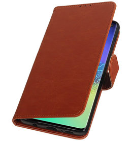 Pull Up Bookstyle for Samsung Galaxy S10 Plus Brown