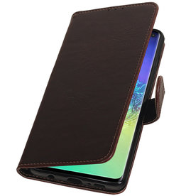 Pull Up Bookstyle for Samsung Galaxy S10 Plus Mocca