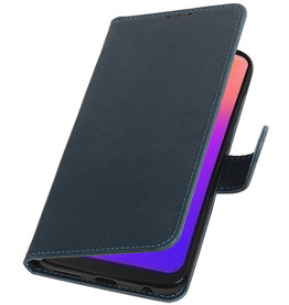 Pull Up Bookstyle for Motorola Moto G7 Blue