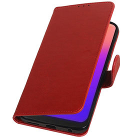 Pull Up Bookstyle for Motorola Moto G7 Red