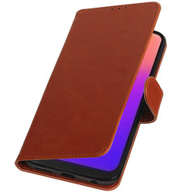 Pull Up Bookstyle for Motorola Moto G7 Brown