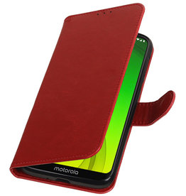Pull Up Bookstyle for Motorola Moto G7 Power Red
