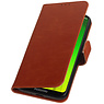 Pull Up Bookstyle for Motorola Moto G7 Power Brown
