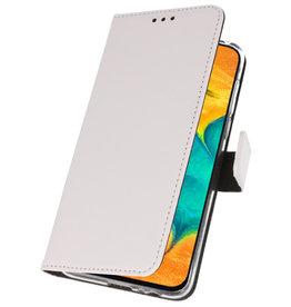 Wallet Cases Hoesje voor Samsung Galaxy A30 Wit