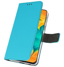 Wallet Cases Hoesje voor Samsung Galaxy A30 Blauw