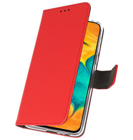 Wallet Cases Hülle für Samsung Galaxy A30 Rot