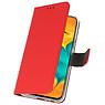 Wallet Cases Hoesje voor Samsung Galaxy A30 Rood