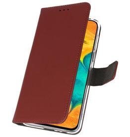 Wallet Cases Hoesje voor Samsung Galaxy A30 Bruin