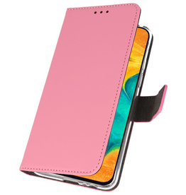Wallet Cases Hülle für Samsung Galaxy A30 Pink