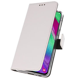 Wallet Cases Case for Samsung Galaxy A40 White