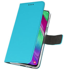 Wallet Cases Case for Samsung Galaxy A40 Blue