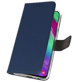 Wallet Cases Case for Samsung Galaxy A40 Navy