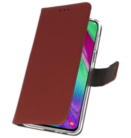Wallet Cases Case for Samsung Galaxy A40 Brown
