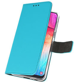 Wallet Cases Case for Samsung Galaxy A50 Blue