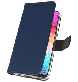 Wallet Cases Case for Samsung Galaxy A50 Navy