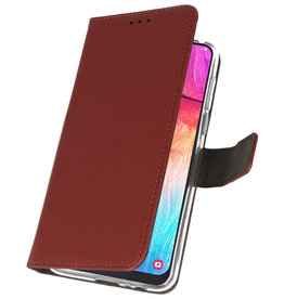Wallet Cases Case for Samsung Galaxy A50 Brown