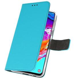 Wallet Cases Hoesje voor Samsung Galaxy A70 Blauw