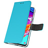 Wallet Cases Hülle für Samsung Galaxy A70 Blue
