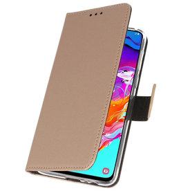 Wallet Cases Hülle für Samsung Galaxy A70 Gold