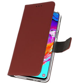 Wallet Cases Case for Samsung Galaxy A70 Brown