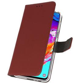 Wallet Cases Hülle für Samsung Galaxy A70 Braun