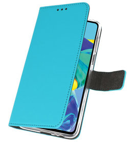 Brieftasche Tasche für Huawei P30 Blau