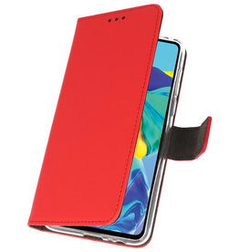 Wallet Cases Case for Huawei P30 Red