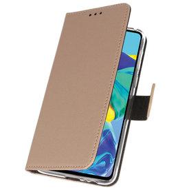 Wallet Cases Hülle für Huawei P30 Gold