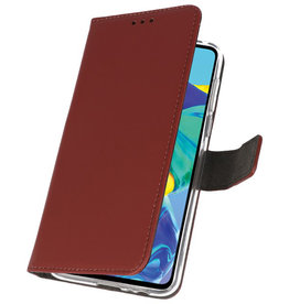 Wallet Cases Case for Huawei P30 Brown