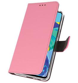 Wallet Cases Hülle für Huawei P30 Pink