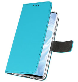 Wallet Cases Case for Huawei P30 Pro Blue