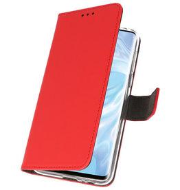 Wallet Cases Hoesje voor Huawei P30 Pro Rood