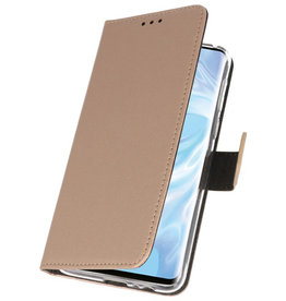Wallet Cases Hülle für Huawei P30 Pro Gold