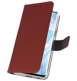 Brieftasche Tasche für Huawei P30 Pro Brown