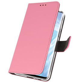 Wallet Cases Hoesje voor Huawei P30 Pro Roze