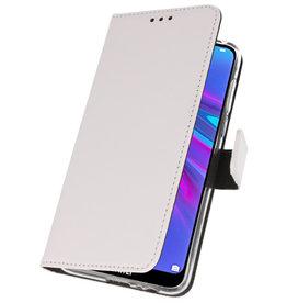 Brieftasche Tasche für Huawei Y6 / Y6 Prime 2019 Weiß