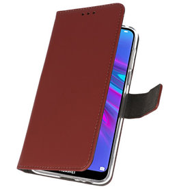 Wallet Cases Hülle für Huawei Y6 / Y6 Prime 2019 Braun