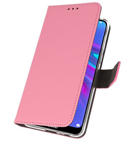 Wallet Cases Hoesje voor Huawei Y6 / Y6 Prime 2019 Roze