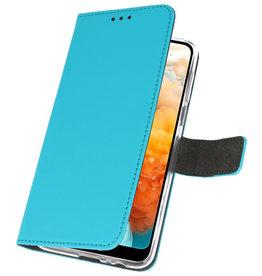 Wallet Cases Hoesje voor Huawei Y6 Pro 2019 Blauw