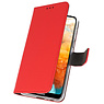 Wallet Cases Hoesje voor Huawei Y6 Pro 2019 Rood