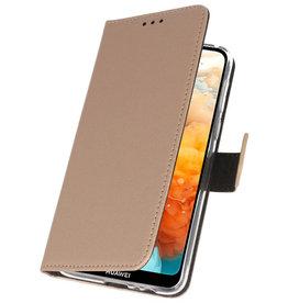 Wallet Cases Hoesje voor Huawei Y6 Pro 2019 Goud