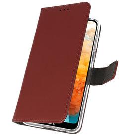 Wallet Cases Hoesje voor Huawei Y6 Pro 2019 Bruin